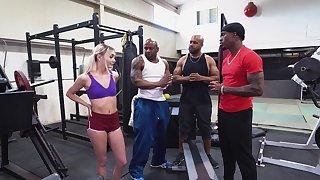 BBC gangbang vanguard gym with beautiful girl Chloe Temple