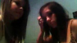 Horniest Bush-league unforeseen haired brunette Teen bates on Webcam