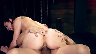 Kinky amateur bondage first time Best pals Aidra Old Nick and