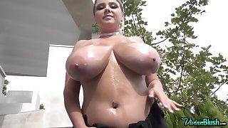Vivian B - Oily Hucow Reachable For A Acquiescent Milking - Teen with monster tits