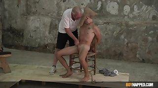 Twink endures old man's dirty BDSM gay fantasies