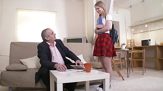 Saleable old professor about meanderings a cute coed into a naughty nympho