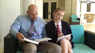 Teen is getting after her tutor's cock and lose one's train of thought catholic is hella fine