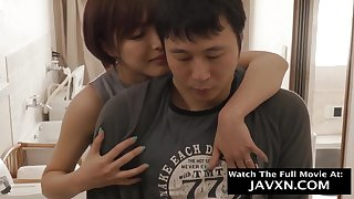 Arousing Japanese Mommy Coupled with Hot Stepson